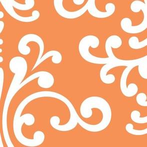 damask xl tangerine orange