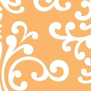 damask xl mango orange
