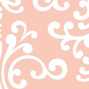 damask xl blush #F9CABA