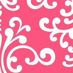 damask xl hot pink