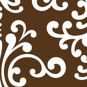 damask xl brown