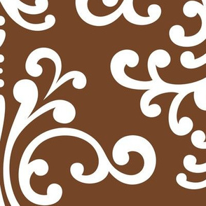 damask xl chocolate brown