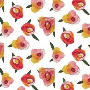 Watercolor roses abstract