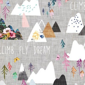 Mountain Dreams (grey) MED