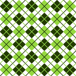 Forest Green Lime White Argyle