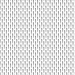 Exclamation Mark Pattern- Black On White