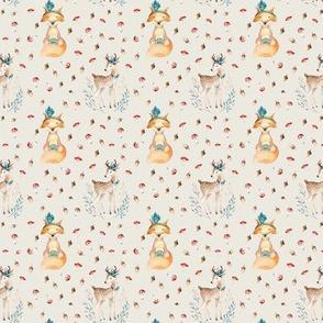 Woodland Friends - Deer & Fox - Blush - 21in