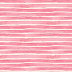 watercolour pink stripe