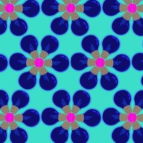 Blue lightbulb daisies