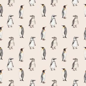 Penguin pattern on pink