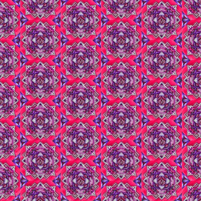 Medallion halfdrop hot pink and purple