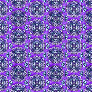 Medallion halfdrop purple and teal