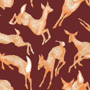 Pretty Little Fawns / Burgundy