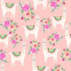 Watercolor Llama Floral