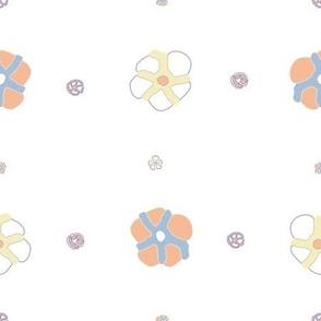 chrysanthia gold pink on blue