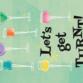 Cordial Party - FQ Tea Towel - Green
