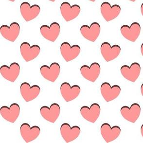 dancing pink hearts pattern