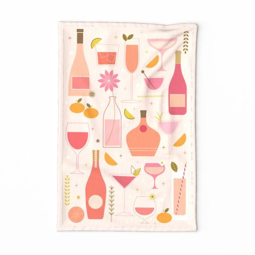 Rosé All Day - Tea Towel