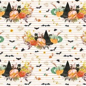 """4"""" Halloween Bouquet - Orange Stripes"""