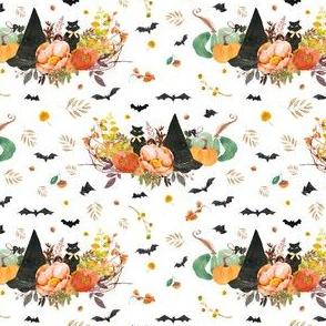 """4"""" Halloween Bouquet - White"""