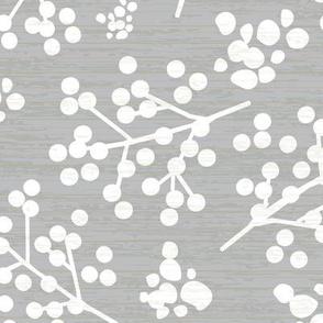 Farmhouse Twigs - Gray & White LARGE