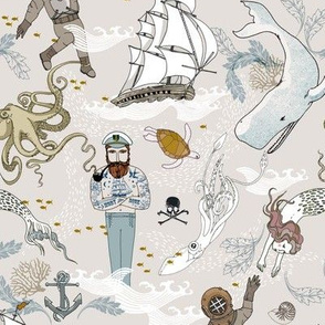 Cephalopods + Old Sea dogs (NO KNIT TEXTURE) SML