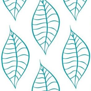 Geometric Turquoise Leaves