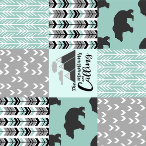 mountain bear patchwork