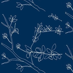 Floral_White on Navy
