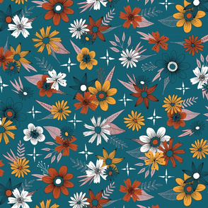 autumn inspired floral pattern