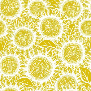 Sunflowers Yellow (large scale)