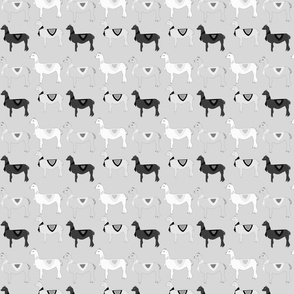 Black And White Llama Pattern