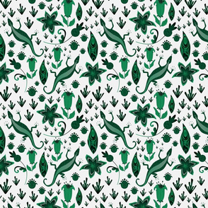 Malachite Pattern On White