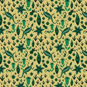 Malachite Pattern On Yellow
