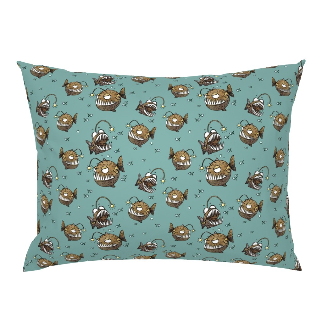 Campine Pillow Sham featuring Cranky fish by mulberry_tree