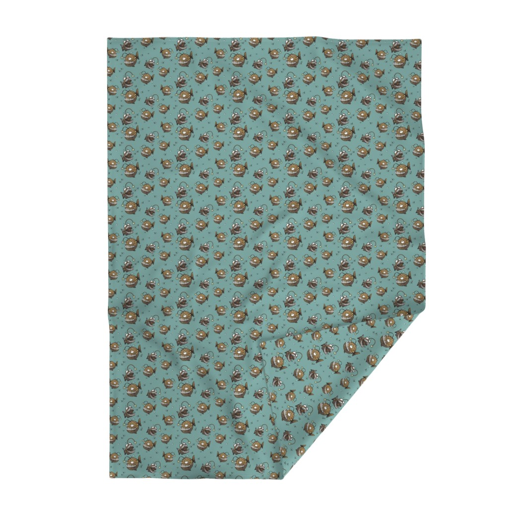 Lakenvelder Throw Blanket featuring Cranky fish by mulberry_tree