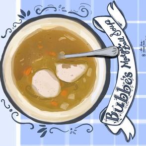 Matzah ball soup recipe tea towel