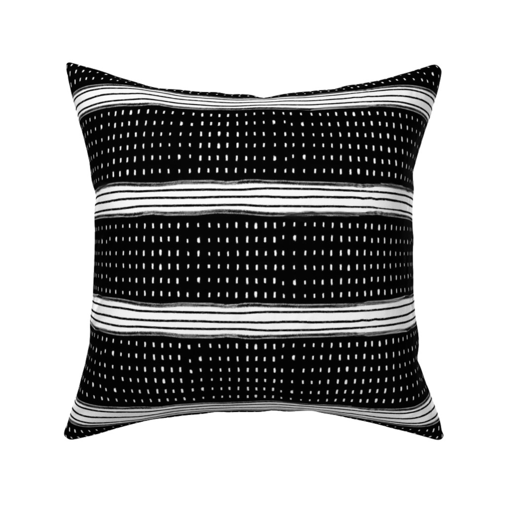 Catalan Throw Pillow featuring Stripes and Spots by karina_love
