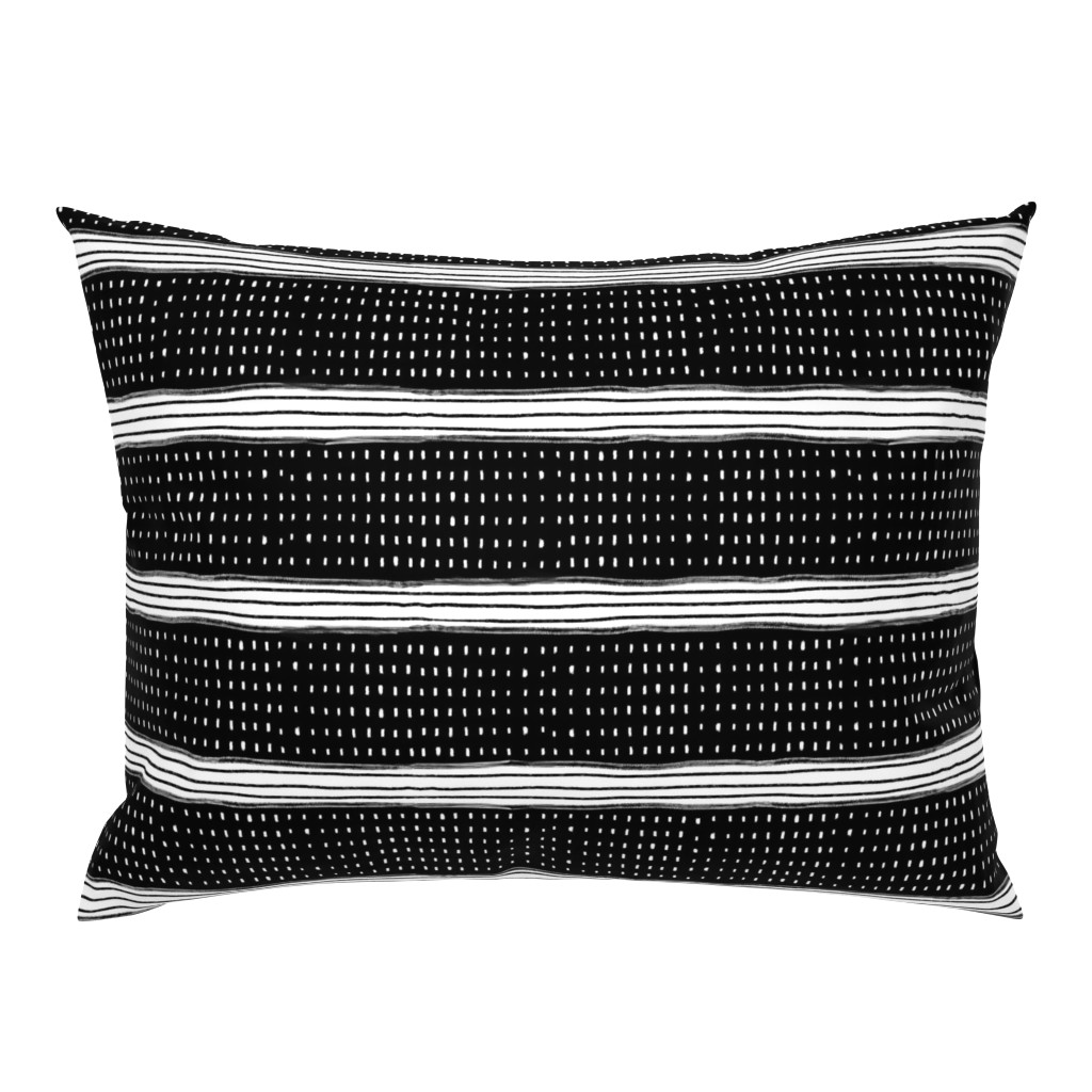 Campine Pillow Sham featuring Stripes and Spots by karina_love
