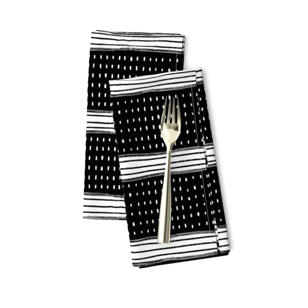 Amarela Dinner Napkins featuring Stripes and Spots by karina_love