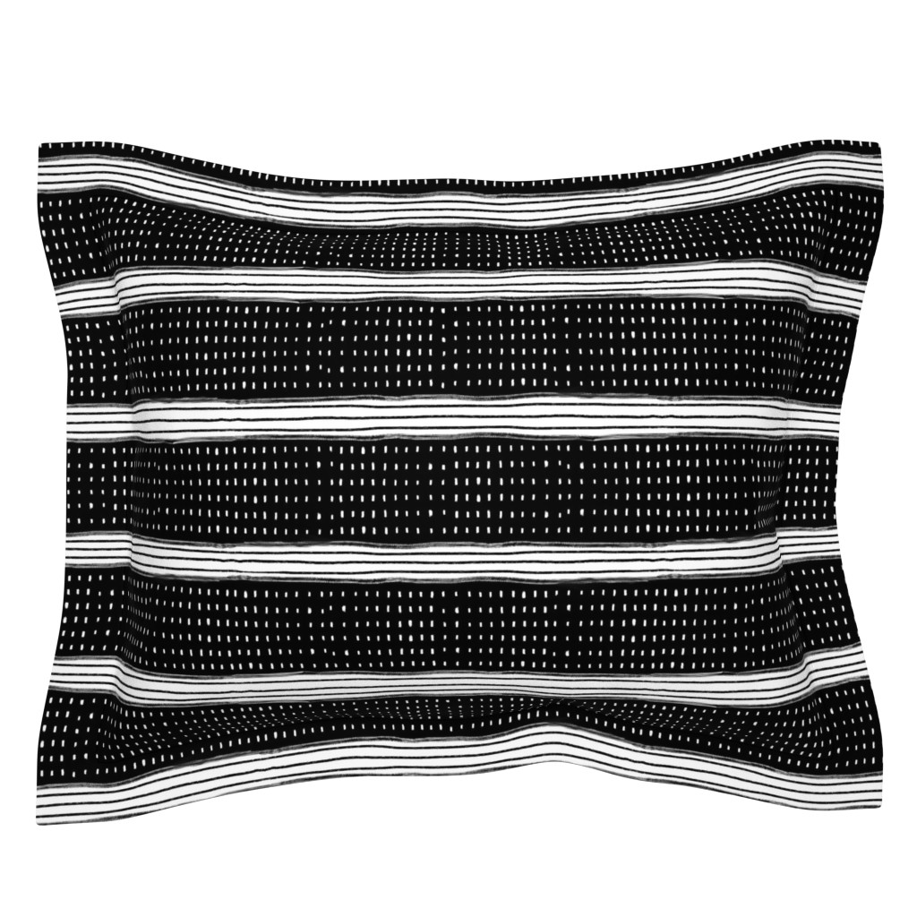 Sebright Pillow Sham featuring Stripes and Spots by karina_love