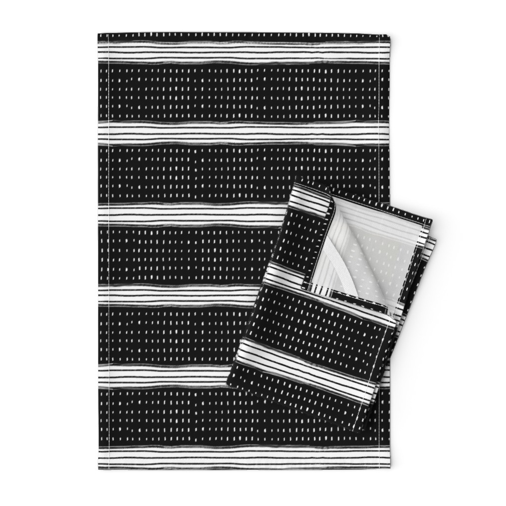 Orpington Tea Towels featuring Stripes and Spots by karina_love