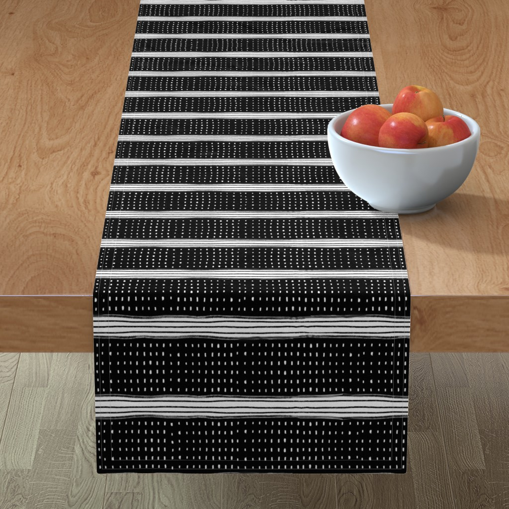 Minorca Table Runner featuring Stripes and Spots by karina_love