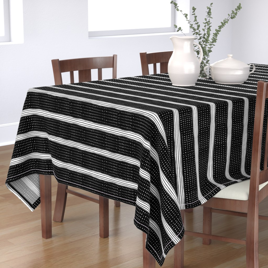 Bantam Rectangular Tablecloth featuring Stripes and Spots by karina_love
