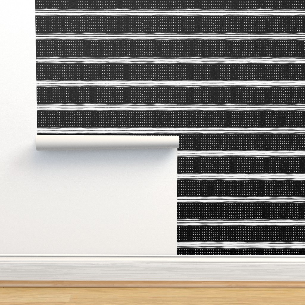 Isobar Durable Wallpaper featuring Stripes and Spots by karina_love