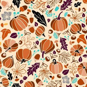 Fall Fruits on Cream
