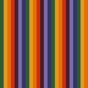 Rainbow striped, specifically for Joseph and the Amazing Technicolor Dreamcoat