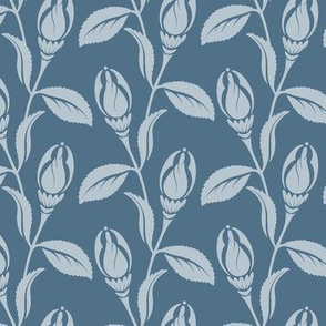 Art Deco flower blue