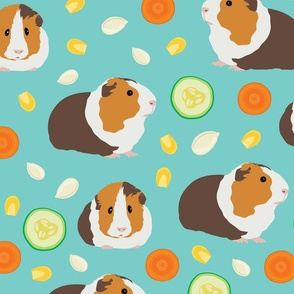 Guinea pig with food pattern