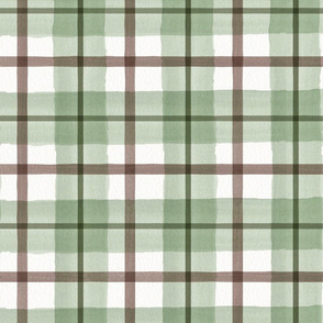 green and brown plaid pattern